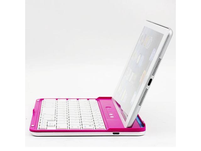 Caper® Ultra-Slim Bluetooth Wireless Aluminum Keyboard Cover for iPad mini 2 / iPad mini Color Pink