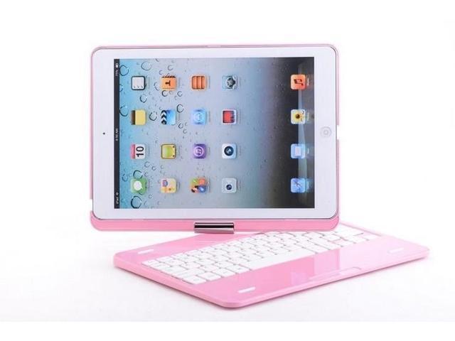 Caper® Ultra-Slim Bluetooth Wireless Keyboard Cover for iPad mini 2 / iPad mini Color Pink