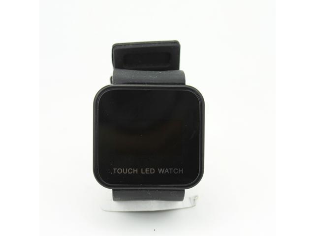 Touch LED Watch Square Black Digital Display Touch Screen Watch Unisex Watches