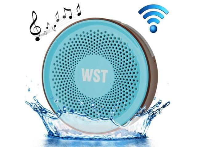 Wireless Speaker Suction Cup Waterproof Speaker WST-827 A2DP V3.0 Bathroom Audio Hands-free Water Resistant Sucker Bluetooth Speaker
