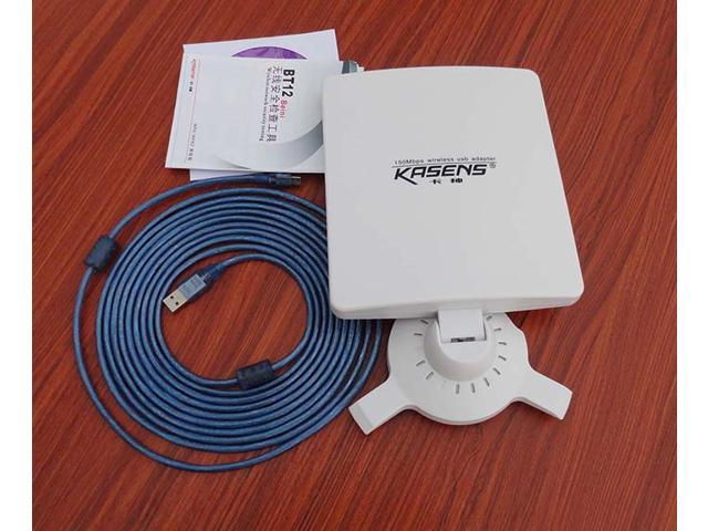 150Mbps Wireless USB Adapter WIFI Adapter Kasens KS-N5200 6600MW 80dBi Panel Antenna 25000M 2.4GHz 802.11 b/g/n