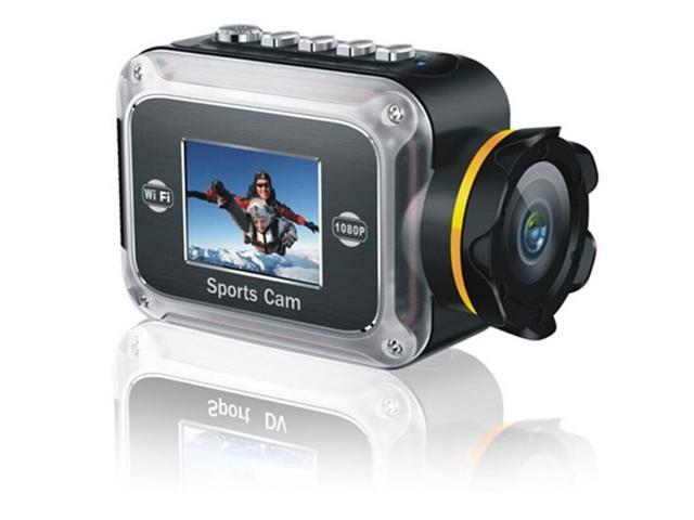 Full HD 1080P Underwater Wifi Sport ActionCamera Cam WiFi DV Camcorder with Wifi Support Control by Phone/Tablet,GW200