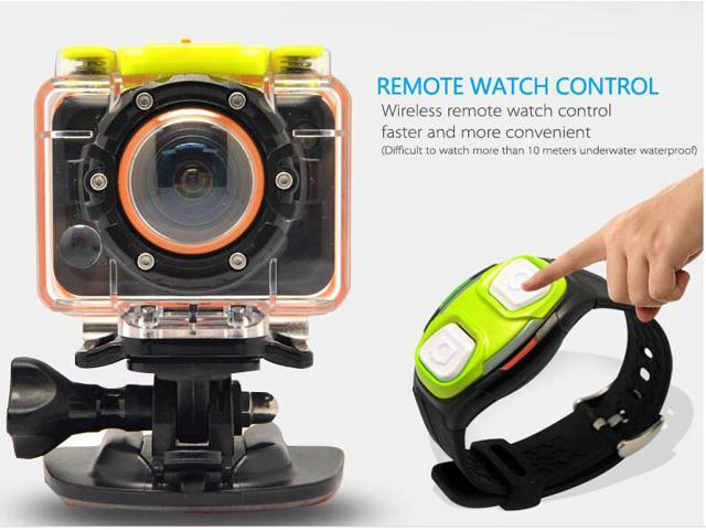 Action Camcorder SportsCameraT10 with Wifi Remote Control Wrist Strap 1080P 30FPS Waterproof Case 170 Degrees