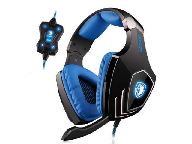 SADES A60 Game Headset Vibration Function and 7.1 Surround Sound Professional Gaming Headphone Earphone