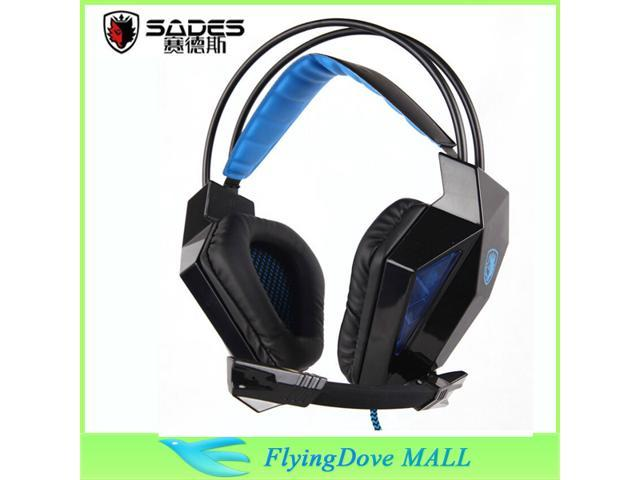 HiFi Stereo Sades SA-710 7.1 channel professional gaming headset usb computer headphone with mic deep bass earphone
