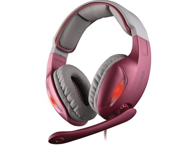 SADES SA-902 Speakers Surround Gaming Headset Stereo Bass Headphone Earphone With Micphone For Computer Gamer Pink