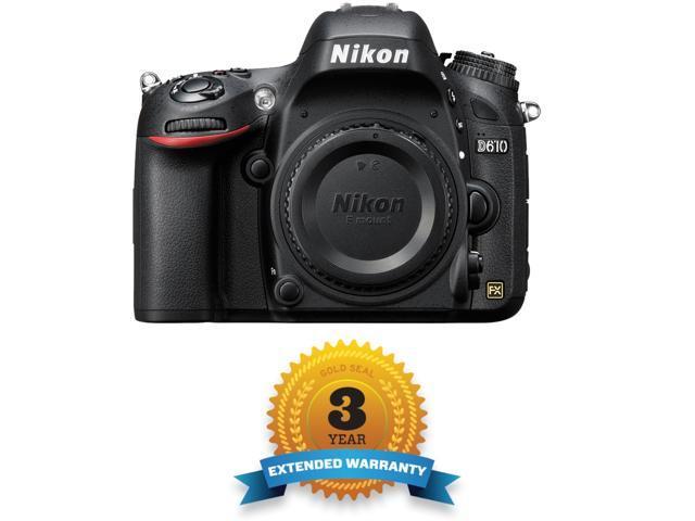 Nikon D610 Body 24.3 MP CMOS FX-Format Digital SLR Camera - with 3 YEAR WARRANTY