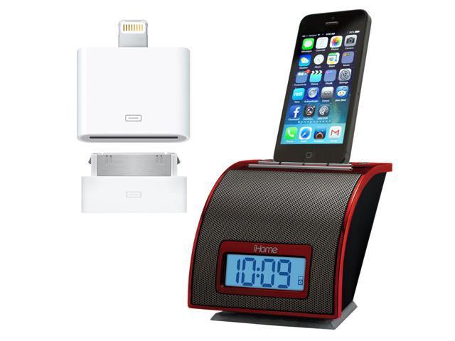 iHome Space Saving Universal Alarm Clock Radio for Apple IPhone 4, 5 & 6