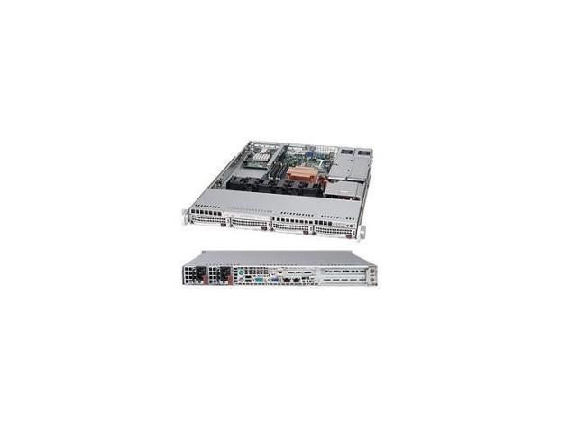 SUPERMICRO CSE-815TQ-R450UB Black 1U Rackmount Server Case 450W Redundant