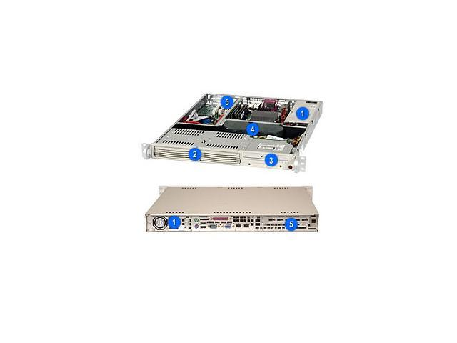 SUPERMICRO CSE-811I-410B Black 1U Rackmount Server Case 410W