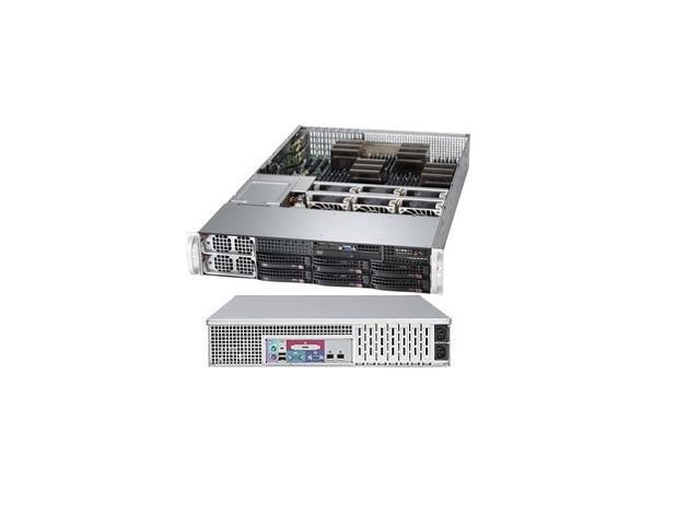 SUPERMICRO CSE-828TQ+-R1400LPB Black 2U Rackmount Server Case 1400W Redundant