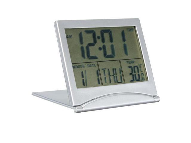 New Desk Digital LCD Thermometer Calendar Date Alarm Clock High quality