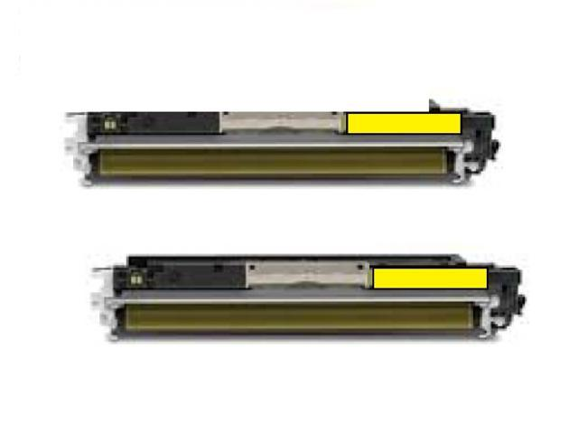 2pk CE312A (126A) Yellow Toner Catridge For HP LaserJet Pro 200 MFP M275NW CP1025
