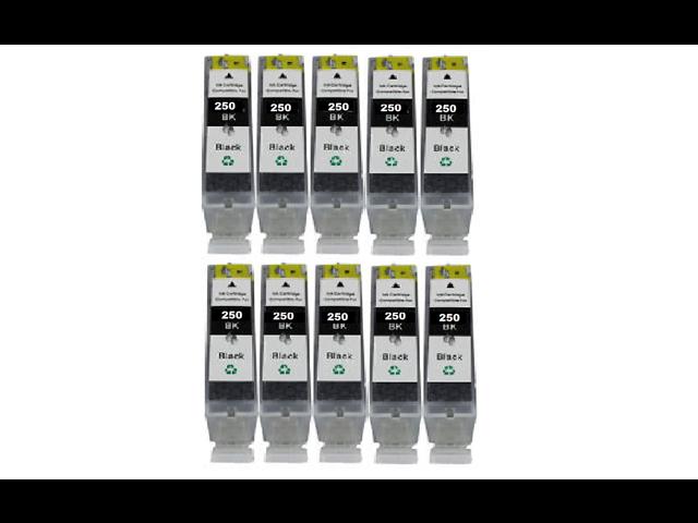 10PK PGI-250BK Black INK For CANON PIXMA iP7220 MG5420 MG5450 MG6320 MX722 MX922
