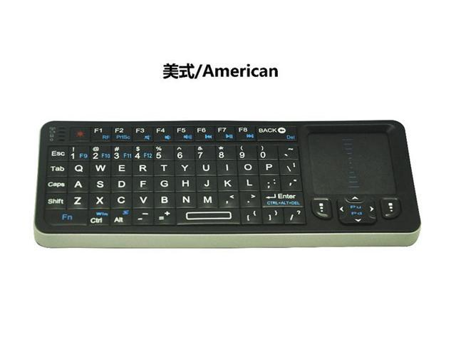 Rii RT-MWK06 RF 2.4GHz Wireless QWERTY Layout Mini Keyboard with TouchPad and Backlight