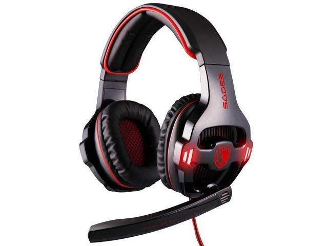 SADES SA-903 Prof PC Gaming headsets,7.1 Sound Channel USB headphone,Stereo Surround Sound earphone with MIC