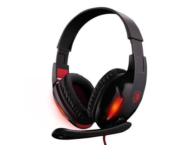 Sades SA-808 Gaming Headset Earphones With Mic Stereo Bass Noise Canceling Game Headphone for PC Computer Gamer High Quality