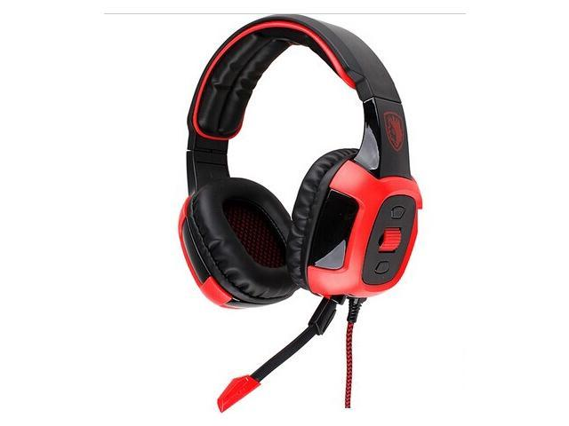 SADES SA-906i Stereo 7.1 Surround USB Gaming Headset Headband PC Game Headphone with Mic Volume Control