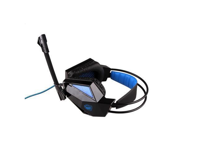 Original Sades SA-709 7.1 Sound Surround PC Game Gamer Gaming Deep Bass Headset Headphone Earphone with Microphone