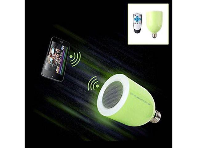 RF Remote Control and Changable LED lamp EDUP Wireless Bluetooth Speaker with LED Light Bulb WN0032 Green