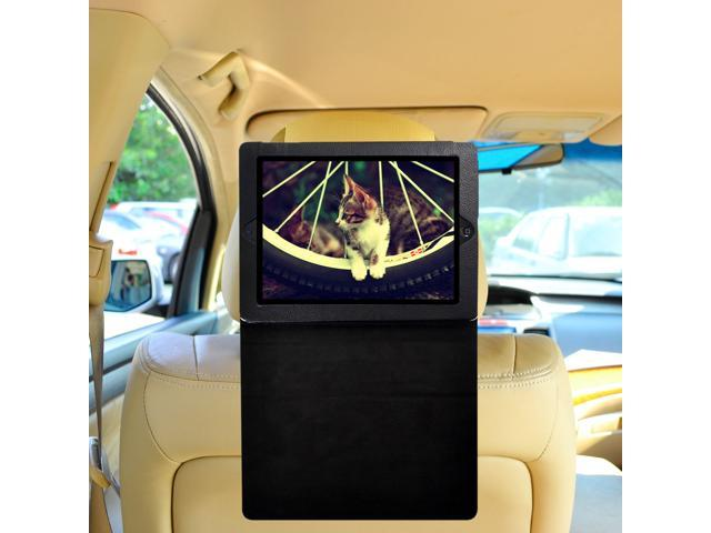 TFY iPad 2 / iPad 3 / iPad 4 Car Headrest Mount, Fast-Attach Fast-Release Standing Cover Case Edition, Beige