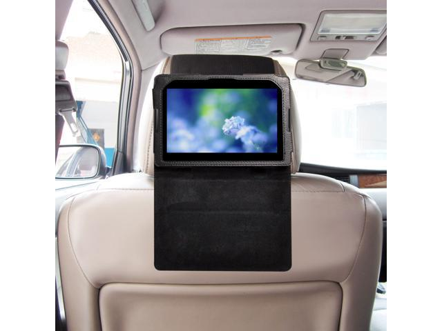 TFY Car Headrest Mount for Blackberry Playbook, Fast-Attach Fast-Release Standing Cover Case Edition, Black