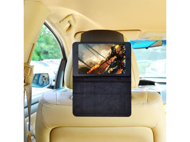 TFY Car Headrest Mount for New Nexus 7 inch, Fast-Attach Fast-Release Standing Cover Case Edition, Black