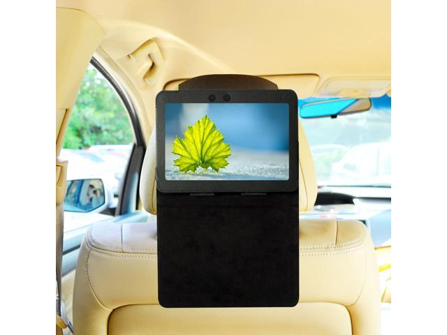 TFY Car Headrest Mount for Kindle Fire HDX 7 inch, Fast-Attach Fast-Release Standing Cover Case Edition, Black