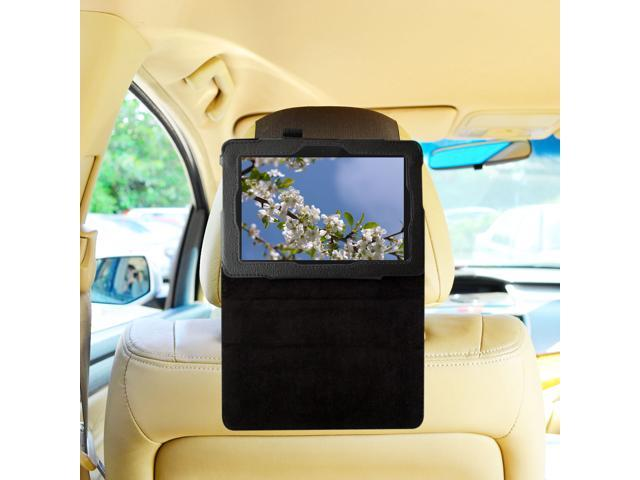 TFY Car Headrest Mount for New Kindle Fire HD 7 inch, Fast-Attach Fast-Release Standing Cover Case Edition, Black