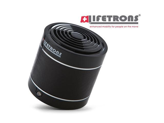 Lifetrons DrumBass Leather Rechargeable Black Single Speaker For iPod, iPhone, iPad & MP3 Players LT8006