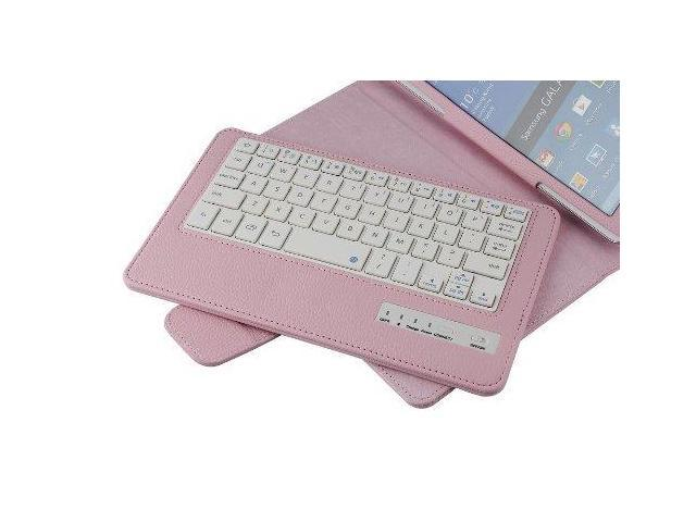 Funny Home Henda SA02 Bluetooth Wireless Keyboard with Leather Case Stand Cover for Samsung Tab Pro T320 8.4 Inch with Charging Cable