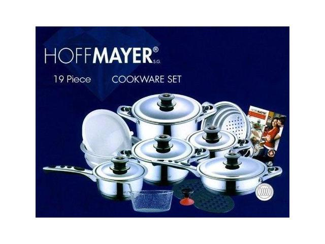 HOFFMAYER 19 Pc Premium Surgical Stainless Steel Cookware Set (Saucepan, Pots)