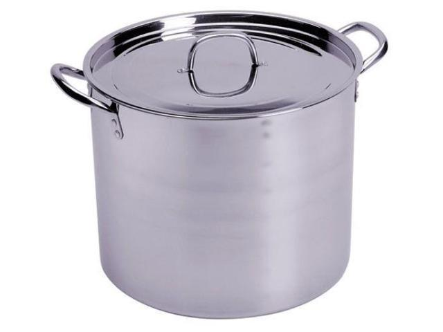 CONCORD 80 QT Stainless Steel Stockpot w/ Steamer Brew Kettle