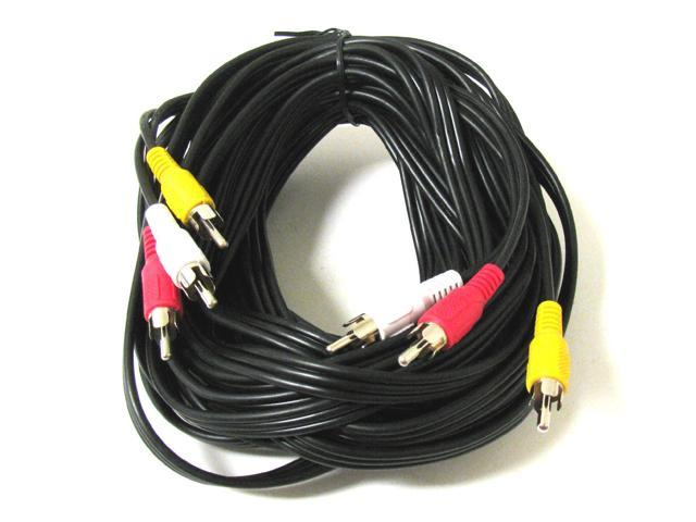 NEW 3 RCA 30' Ft 30Ft Audio Video AV Cable FOR HDTV DVD VCR