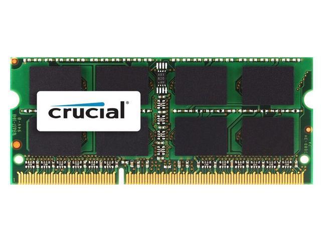 Crucial 2GB Single DDR3-1333 MT/s (PC3-10600) CL9 204-Pin 1.35V/1.5V SODIMM Memory For Mac CT2G3S1339M