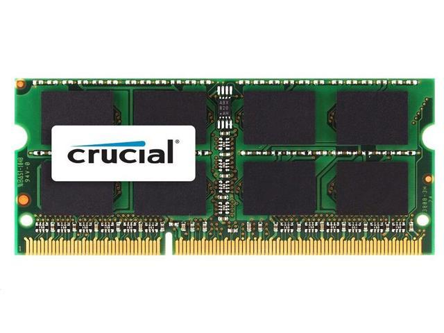 Crucial 4GB Single DDR3/DDR3L 1600 MT/s (PC3-12800) CL11 SODIMM 204-Pin 1.35V/1.5V Memory for Mac CT4G3S160BM