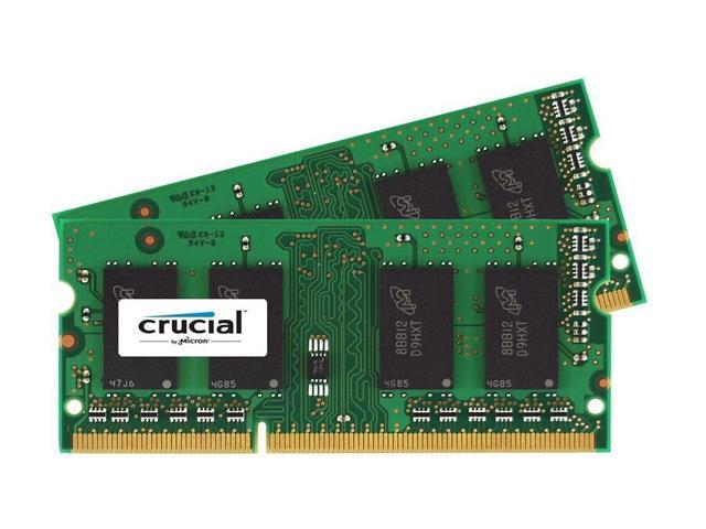Crucial 4GB Kit (2x2GB) DDR3 1600 MT/s PC3-12800 CL11 SODIMM 204-Pin Notebook Memory CT2KIT25664BF160B/CT2CP25664BF160B