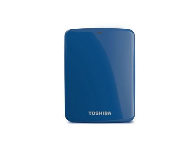 Toshiba Canvio Connect 1TB Portable Hard Drive, Blue (HDTC710XL3A1)