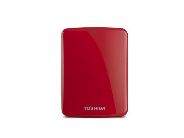 Toshiba Canvio Connect 2TB Portable Hard Drive, Red (HDTC720XR3C1)