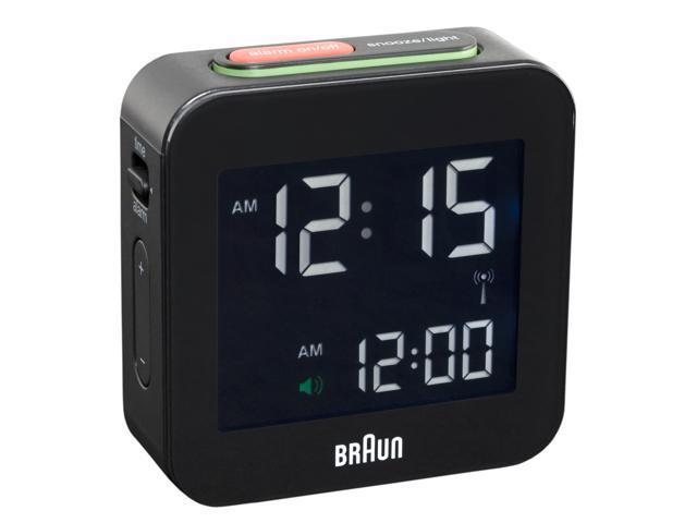58mm Braun LCD Alarm Clock 008 BK