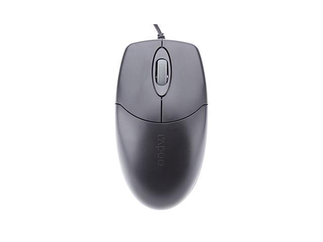 Rapoo Ergonomic 3D Scroll Wheel Wired USB 2.0 Optical Mouse