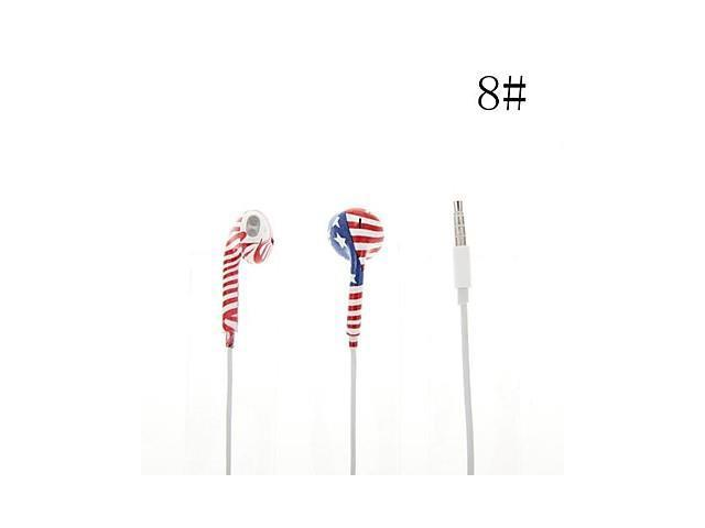 2014 World Cup National Flag In-Ear Earphones with Volume Control for iPhone 5 Mobile Phone