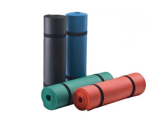 Non-Slip Rubber Yoga Mat 183Cm*61Cm*15Mm black black