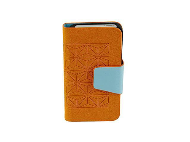 Contrast Leather Wallet Stand Case Cover Protector for Iphone 5 Orange