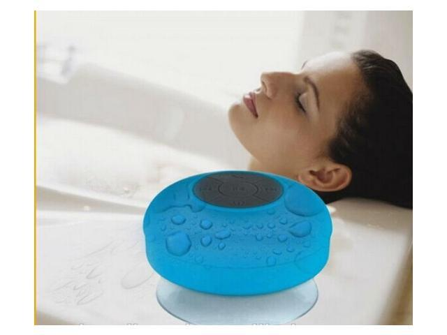 JumboAudio Portable Mini WaterProof Wireless Bluetooth Speaker with Suction Mount and Built-in Microphone (Blue)