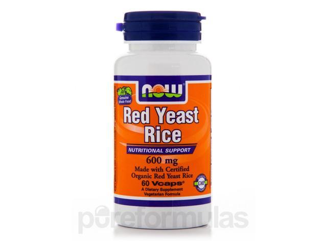 Red Yeast Rice 600 mg - 60 Vegetarian Capsules by NOW
