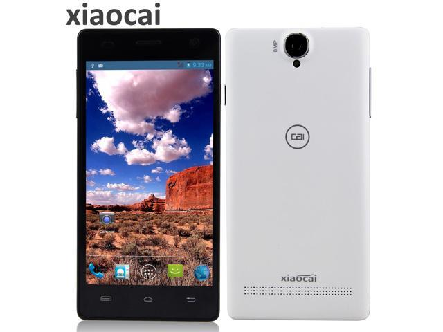 Xiaocai X9+ White WiFi Bluetooth GPS Cell Phone MTK6582 Quad Core 1.3GHz Phone 5.0 inch Android 4.2.1 Smart Phone RAM 1GB ROM 4GB WCDMA & ...