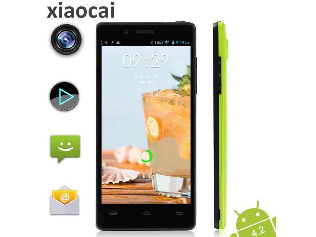 MTK6589 Quad Core Android Phone XIAOCAI X9S 4.5 Inch 1.3GHz 1G RAM 4GB ROM 8.0MP Camera Bluetooth GPS 960x540 Dual Card Dual Standby 3G Smart ...