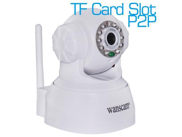 Wanscam 0.3 MegaPixels Pan/Tilt Night Vision P2P Wireless Wifi IP Camera TF Card Slot Dual Audio Motion Detection iPhone/Android Remote View Home ...