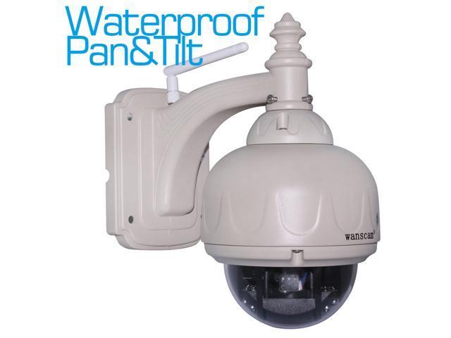 Wanscam Waterproof Outdoor Pan&Tilt PT Dome IP Camera Wireless IR Cut Filter Infrared LEDs Night Vision P2P Network Camera Wifi Internet Camera ...